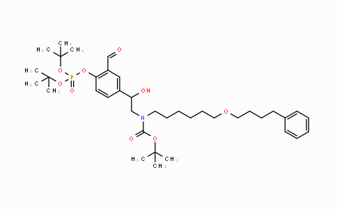 917480-07-0 | tert-butyl 2-(4-(di-tert-butoxyphosphoryloxy)-3-formylphenyl)-2-hydroxyethyl(6-(4-phenylbutoxy)hexyl)carbamate