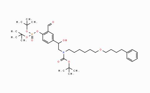MC447693 | 917480-07-0 | tert-butyl 2-(4-(di-tert-butoxyphosphoryloxy)-3-formylphenyl)-2-hydroxyethyl(6-(4-phenylbutoxy)hexyl)carbamate