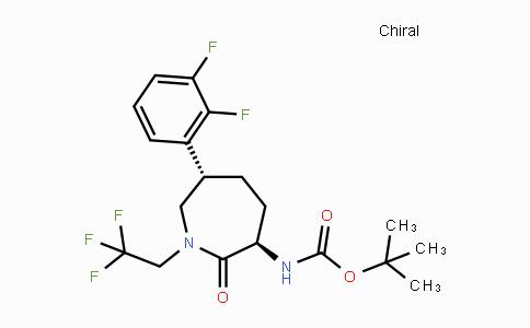 781650-42-8 | tert-butyl (3R,6S)-6-(2,3-difluorophenyl)-2-oxo-1-(2,2,2-trifluoroethyl)azepan-3-ylcarbamate