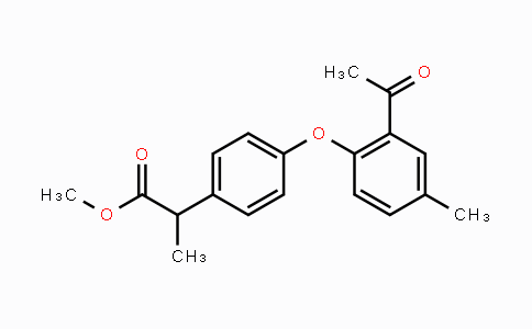 MC447744 | 78490-39-8 | methyl 2-(4-(2-acetyl-4-methylphenoxy)phenyl)propanoate