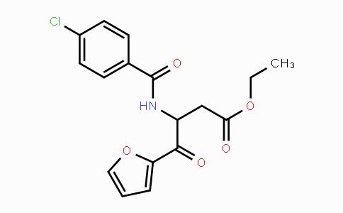 MC447747 | 88352-43-6 | ethyl 3-(4-chlorobenzoylamino)-4-(2-furyl)-4-oxobutyrate
