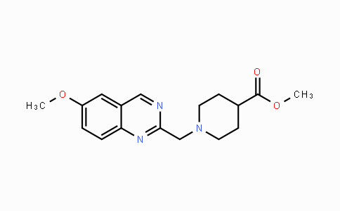 MC447764 | 1393448-81-1 | methyl 1-((6-methoxyquinazolin-2-yl)methyl)piperidine-4-carboxylate