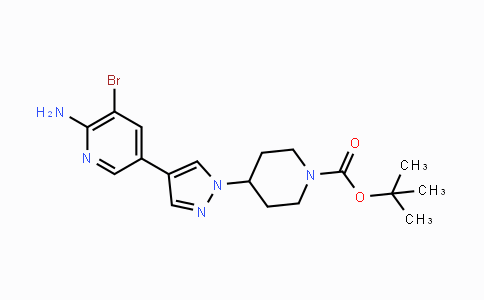 1175270-51-5 | tert-butyl 4-(4-(6-amino-5-bromopyridin-3-yl)-1H-pyrazol-1-yl)piperidine-1-carboxylate