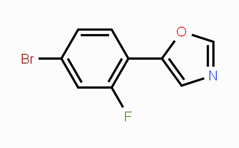 883230-59-9 | 5-(4-Bromo-2-fluorophenyl)-1,3-oxazole