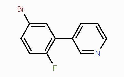 425378-78-5 | 3-(5-Bromo-2-fluorophenyl)pyridine