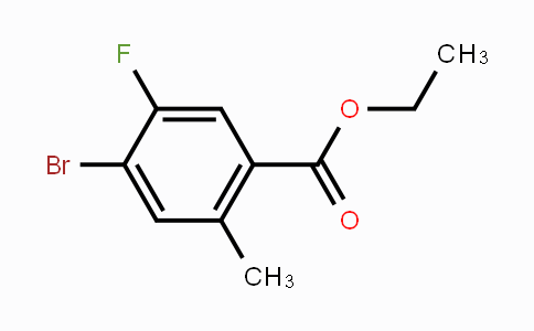 1807043-81-7 | Ethyl 4-bromo-5-fluoro-2-methylbenzoate
