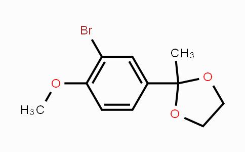 81224-34-2 | 2-(3-Bromo-4-methoxyphenyl)-2-methyl-1,3-dioxolane