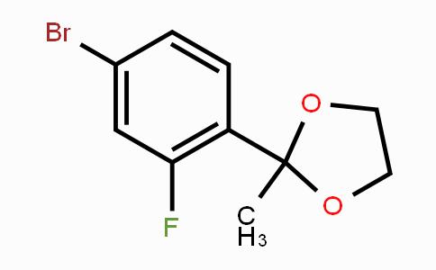 625446-23-3 | 2-(4-Bromo-2-fluorophenyl)-2-methyl-1,3-dioxolane