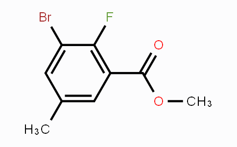 72518-21-9 | Methyl 3-bromo-2-fluoro-5-methylbenzoate