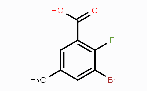 72518-16-2 | 3-Bromo-2-fluoro-5-methylbenzoic acid