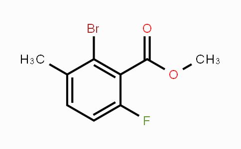 MC449597 | 1359857-62-7 | Methyl 2-bromo-6-fluoro-3-methylbenzoate