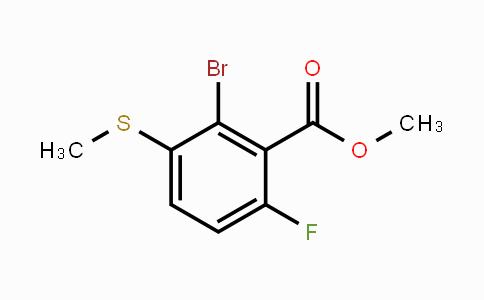 1879026-08-0 | Methyl 2-Bromo-6-fluoro-3-(methylsulfanyl)benzoate