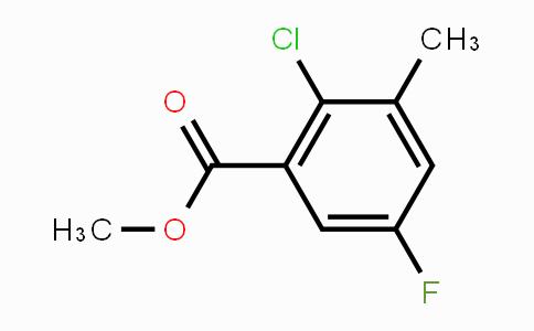 MC450294 | 1805112-73-5 | Methyl 2-chloro-5-fluoro-3-methylbenzoate