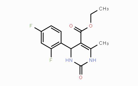 MC451130 | 312632-14-7 | Ethyl 4-(2,4-difluorophenyl)-6-methyl-2-oxo-1,2,3,4-tetrahydro-5-pyrimidinecarboxylate