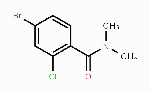 MC451200 | 682778-17-2 | N,N-dimethyl 4-bromo-2-chlorobenzamide