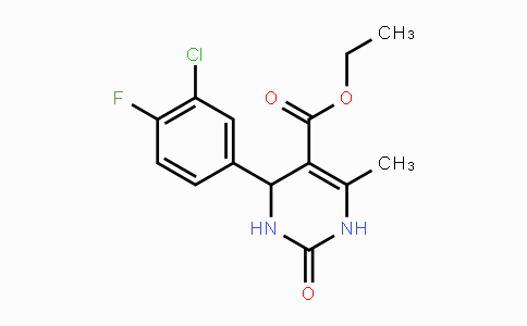 1449008-02-9 | Ethyl 4-(3-chloro-4-fluorophenyl)-6-methyl-2-oxo-1,2,3,4-tetrahydropyrimidine-5-carboxylate