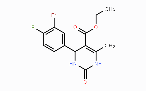 312632-07-8 | Ethyl 4-(3-bromo-4-fluorophenyl)-6-methyl-2-oxo-1,2,3,4-tetrahydropyrimidine-5-carboxylate