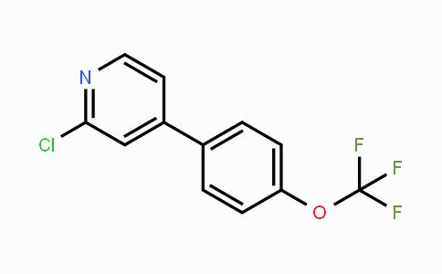 697739-19-8 | 2-Chloro-4-(4-trifluoromethoxyphenyl)pyridine