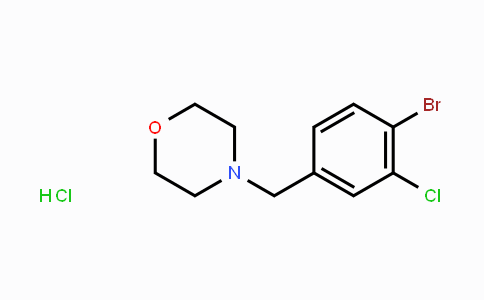952290-08-3 | 4-[(4-Bromo-3-chlorophenyl)methyl]-morpholine hydrochloride