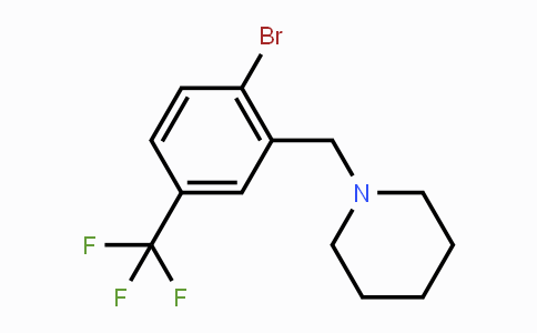 913296-73-8 | 1-[[2-bromo-5-(trifluoromethyl)phenyl]methyl]-piperidine