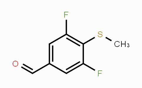 MC451969 | 473299-49-9 | 3,5-Difluoro-4-(methylthio)benzaldehyde