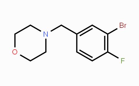 281652-25-3 | 4-(3-Bromo-4-fluorobenzyl)morpholine