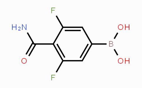 924279-82-3 | 4-(Aminocarbonyl)-3,5-difluorophenylboronic acid