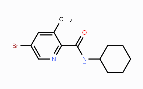 244139-63-7 | 5-Bromo-3-methyl-N-cyclohexylpyridine-2-carboxamide