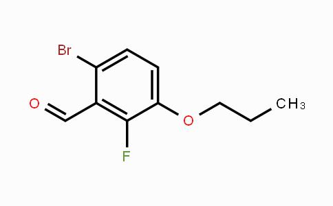 MC453602 | 1114809-09-4 | 6-Bromo-2-fluoro-3-propoxybenzaldehyde