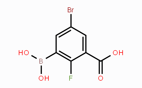 957120-63-7 | 5-Bromo-3-carboxy-2-fluorophenylboronic acid