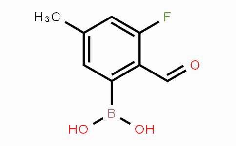 2121511-45-1 | 3-Fluoro-2-formyl-5-methylphenylboronic acid