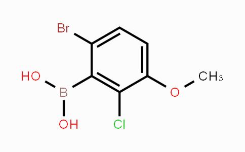 957062-55-4 | 6-Bromo-2-chloro-3-methoxyphenylboronic acid