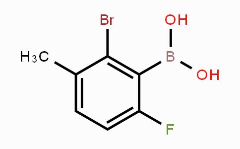957121-09-4 | 2-Bromo-6-fluoro-3-methylphenylboronic acid