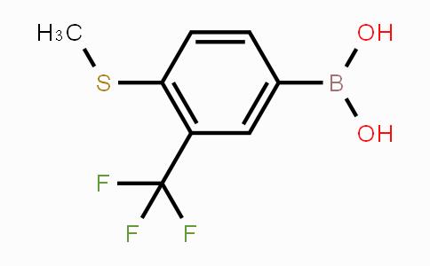 877383-11-4   4-Methylthio-3-(trifluoromethyl)phenylboronic acid