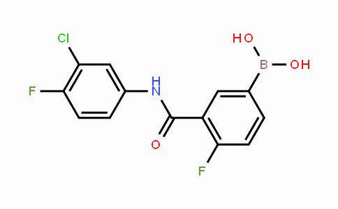 MC453867 | 1451393-29-5 | 3-(3-chloro-4-fluorophenylcarbamoyl)-4-fluorophenylboronic acid