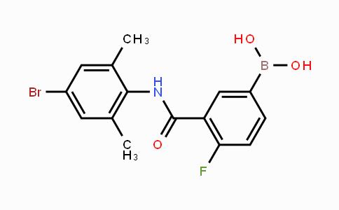 1451391-49-3 | 3-(4-Bromo-2,6-dimethylphenylcarbamoyl)-4-fluorophenylboronic acid