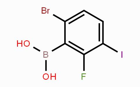 1072951-90-6 | 6-Bromo-2-fluoro-3-iodophenylboronic acid