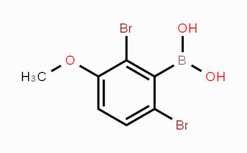 850567-93-0 | 2,6-Dibromo-3-methoxyphenylboronic acid