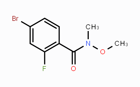 801303-33-3 | 4-Bromo-2-fluoro-n-methoxy-n-methylbenzamide