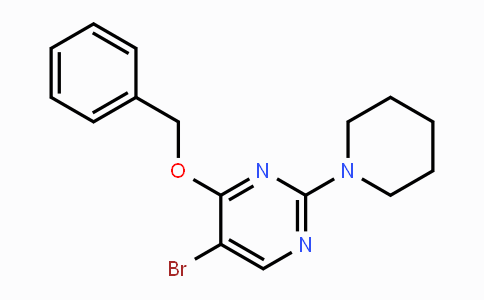 MC454350 | 885952-22-7 | 4-Benzyloxy-5-bromo-2-(piperidin-1-yl)-pyrimidine