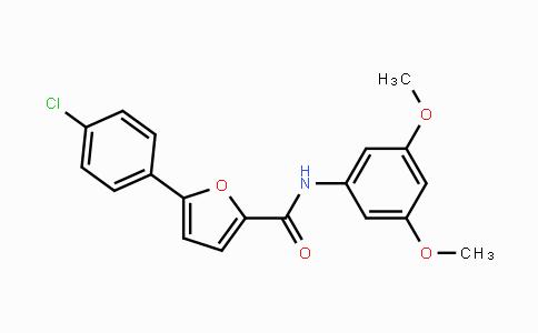 MC455192 | 944261-79-4 | 5-(4-氯苯基)-N-(3,5-二甲氧基苯基)-2-呋喃甲酰胺