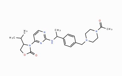 1429180-08-4 | (4S)-3-[2-[[(1S)-1-[4-[(4-乙酰基-1-哌嗪基)甲基]苯基]乙基]氨基]-4-嘧啶基]-4-异丙基-2-恶唑烷酮