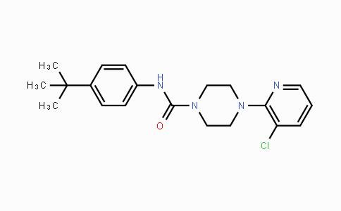 MC455220 | 393514-24-4 | N-(4-叔丁苯基)-4-(3-氯吡啶-2-基)哌嗪-1-甲酰胺
