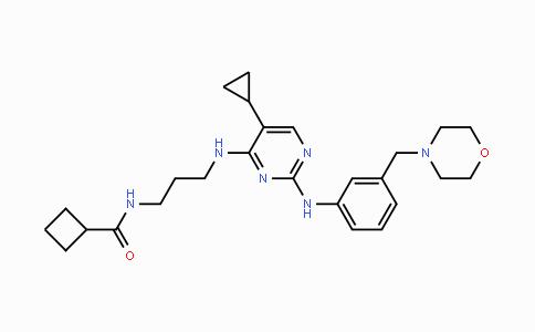 1190378-57-4 | N-[3-[[5-环丙基-2-[[3-(4-吗啉基甲基)苯基]氨基]-4-嘧啶基]氨基]丙基]环丁烷甲酰胺