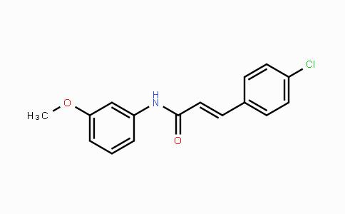 472981-92-3 | 3-(4-氯苯基)-N-(3-甲氧基苯基)-2-丙烯酰胺