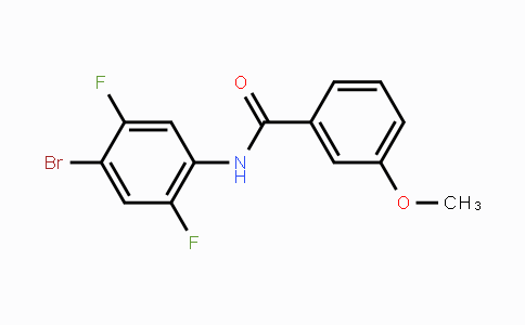MC455261 | 286366-73-2 | N-(4-溴-2,5-二氟苯基)-3-甲氧基苯甲酰胺