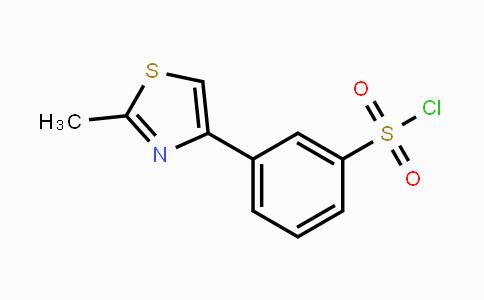 66047-75-4 | 3-(2-Methylthiazol-4-yl)benzenesulphonylchloride