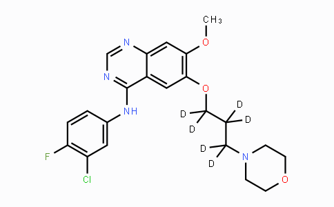MC455420 | 1228664-49-0 | N-(3-Chloro-4-fluorophenyl)-6-(1,1,2,2,3,3-hexadeuterio-3-morpholin-4-ylpropoxy)-7-methoxyquinazolin-4-amine