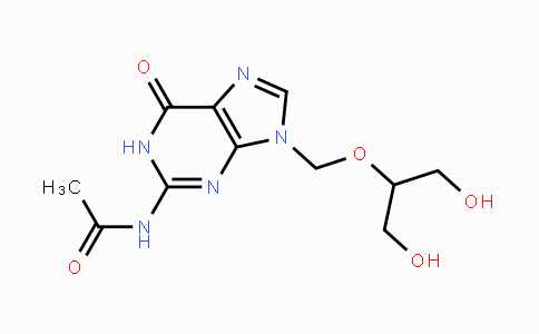 MC455440 | 84245-12-5 | N-[6,9-Dihydro-9-[[2-hydroxy-1-(hydroxymethyl)ethoxy]methyl]-6-oxo-1H-purin-2-yl]acetamide