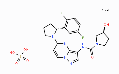 1223405-08-0 | (3S)-N-[5-[(2R)-2-(2,5-Difluorophenyl)-1-pyrrolidinyl]pyrazolo[1,5-a]pyrimidin-3-yl]-3-hydroxy-1-pyrrolidinecarboxamide sulfate